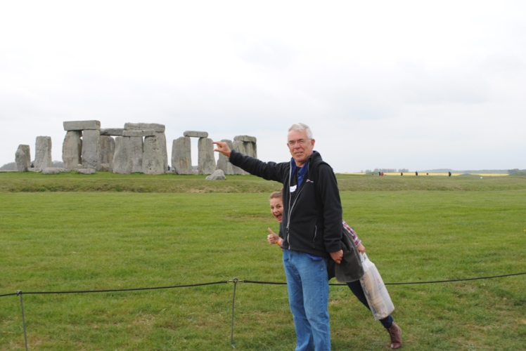 Dr Time Copeland on the Showcasing History trip to Stonehenge in 2015.