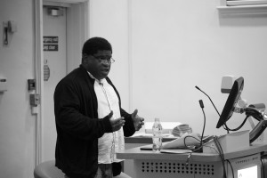 Gary Younge, FCH, University of Gloucestershire, 20th Oct 2015. Photo by Lucy Harris www.lucyharrisphoto.co.uk